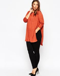 ASOS CURVE • Tunic With Split Side In Cut & Sew