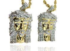 King Johnny - Johnny's Custom Jewelry - 2 10K Gold Jesus with Diamonds, $989.99 (http://www.johnnyscustomjewelry.com/2-10k-gold-jesus-with-diamonds/)