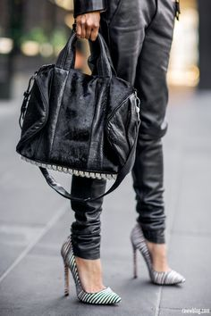 leather and pony hair bag...luv