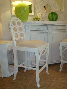 CBell - Furnishing Life - Seating - White Lacquer Loop Counter Stool