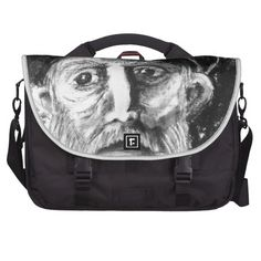 Old Man Charcoal Drawing Laptop Computer Bag    •   This design is available on t-shirts, hats, mugs, buttons, key chains and much more    •   Please check out our others designs and products at www.zazzle.com/zzl_322881145212327*
