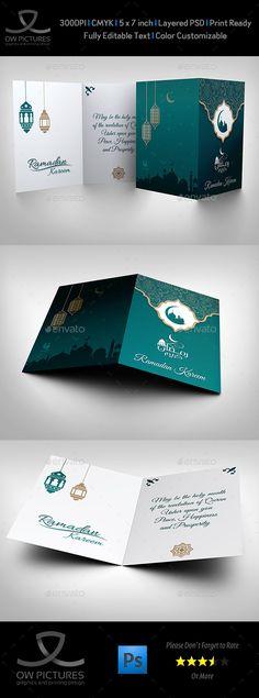 Ramadan Kareem Greeting Card Template PSD. Download here: http://graphicriver.net/item/ramadan-kareem-greeting-card/16342338?ref=ksioks