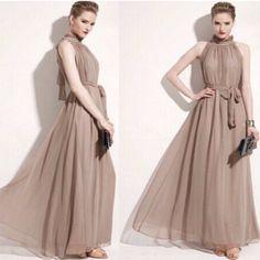 Bohemian Halterneck Chiffon Women Maxi Dress
