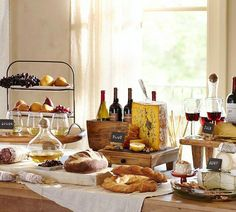Cheese board display pottery barn 56 ideas for 2019 Wine And Cheese Party, Wine Tasting Party, Wine Cheese, Wine Parties, Cocktail Parties, Cheese Table, Cheese Platters, Cheese Board Display, Party Entertainment