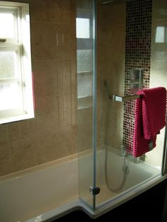 Shower bath Ives extra room for showering without the need for a separate cubicle.  http://www.ppmsltd.co.uk