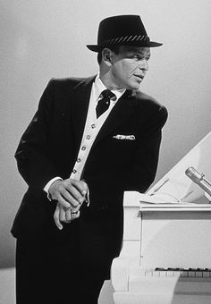Frank Sinatra photographed by Gene Howard on the set of The Frank Sinatra Timex Show, 1959.