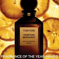 TOM FORD Venetian Bergamot named Men's Luxury Fragrance of the Year #PRIVATEBLEND #VENTIANBERGAMOT #TFFAWARDS @fragrancefdtn