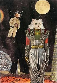 Feline space oddity.Artist, Lou Beach