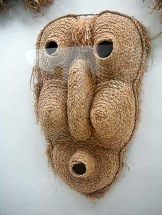 Corn Husk Mask . Native American.