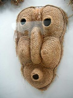 Corn Husk Mask . Native American.