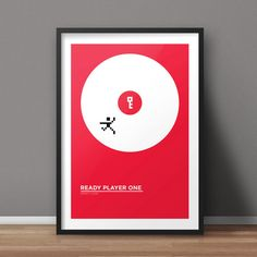 Ready Player One, Book Poster, Minimalist Poster, Flat Poster Design, Clean Poster Design, Digital Printable Poster