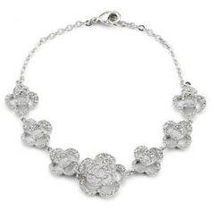 Leilani Cubic Zirconia Bracelet Prom Jewelry, Bridal Jewelry, Bridal Bracelet, Neck Piece, Bracelet Designs, Vintage Jewelry, Pearls, Diamond, Bracelets