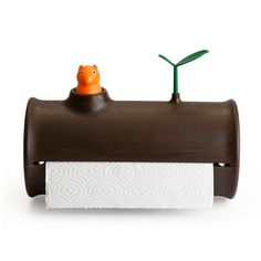 Log Paper Towel Holder by  Qualy