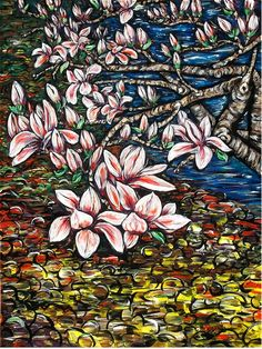 ARTFINDER: Magnolia  by DASMANG    (Gary Aitken ) - Magnolia in bloom