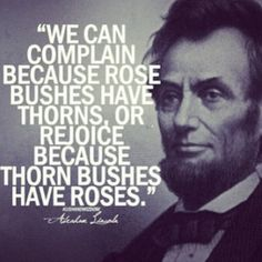 No complaining.. Perspective
