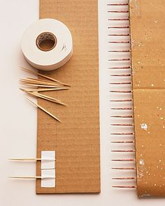 make your own comb of toothpicks