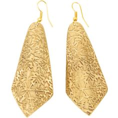 New Leaf Earrings ($10) ❤ liked on Polyvore