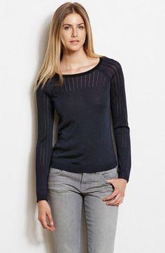 Pointelle Stitch Sweater - Sweaters - Womens - Armani Exchange