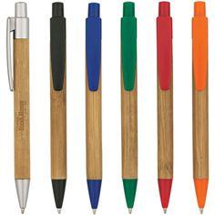 Panda pen - Bamboo barrel pen with plunger action.