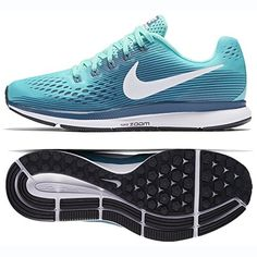 4844920792c3 Nike Women s Air Zoom Pegasus 34 Running Shoe Green (8.5)