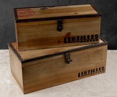 """Long Wood Latched Boxes (15"""" & 13"""" """" long) Set of 2 for $39 wine boxes?"""