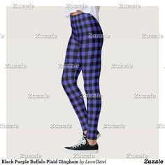 Shop Black Electric Blue Buffalo Plaid Leggings created by LeonOziel. Leggings Fashion, Women's Leggings, Black Leggings, Custom Leggings, Gym Style, Gingham Check, Running Tights, Electric Blue, Buffalo Plaid