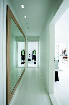 Giant hallway mirror