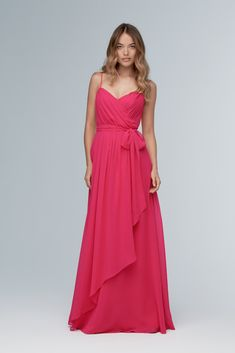 Wtoo Style 102 by Watters Bridesmaid Dress - Inna Chiffon - Take timeless to the next level in this modern, grecian-inspired gown of inna chiffon. An asymmetrical wrap skirt adds flirty interest to the flowy bottom of the gown. Classic Bridesmaids Dresses, Bridesmaid Dress Styles, Bridesmaid Ideas, Wedding Bridesmaids, Strapless Dress Formal, Formal Dresses, Wedding Dresses, Evening Dresses, Prom Dresses