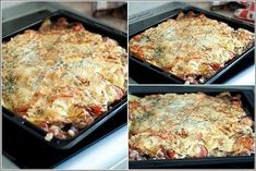 Meat — how many will take Cheese — g Mayonnaise — 2 packs Salt Spice Greenery A layered potato «on all occasions Ukrainian Recipes, Russian Recipes, Meat Recipes, Cooking Recipes, Healthy Recipes, Meat Salad, Good Food, Yummy Food, Saveur