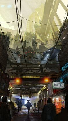 Done for James Paick environment masterclass. A bladerunner inspired futuristic bar scene.