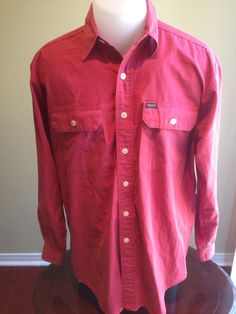 New to MajorDivision on Etsy: Vintage Red Small Polo Sport Button Down (35.00 CAD)