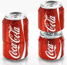 Two for one! Stackable Soda cans