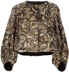 Embellished Jacket - Lyst