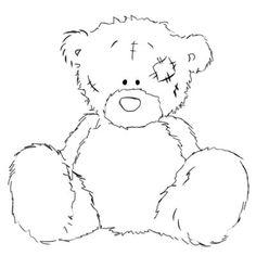Teddy Bear Sketch, Teddy Bear Drawing, Art Drawings For Kids, Easy Drawings, Teddy Bear Tattoos, Teddy Bear Pictures, Baby Clip Art, Happy Paintings, Tatty Teddy