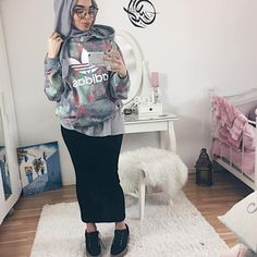 "4,655 Likes, 54 Comments - Mariam  (@mariammoufid) on Instagram: ""Adidas sweater from @junkyardgirls  Sneakers @publicdesire  Glasses @shevoke Skirt…"""