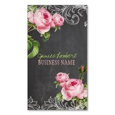 Vintage roses personalised business card pixdezines business cardsrosesvintage reheart Choice Image