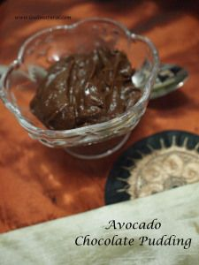 Chocolate Avocado Pudding- 3 ingredients Raw Cacao, Avocado and Dates