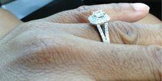 1-1/3 CT. T.W. Emerald-Cut Diamond Split Shank Frame Engagement Ring in 14K White Gold