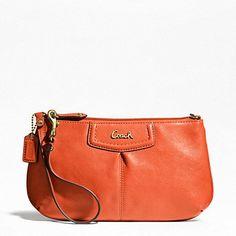 Amazon.com: Coach Ashley Leather Large Wristlet F48103: Clothing
