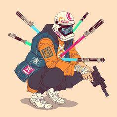 First Order Trooper 01 Yolo Solo - Gerone Perez Cyberpunk Character, Cyberpunk Art, Poster Anime, Samurai Wallpaper, Dope Cartoon Art, Graffiti Characters, Dope Wallpapers, Samurai Art, Boy Art
