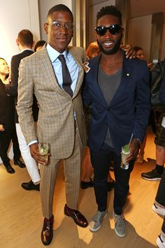 Labrinth and Tinie Tempah at the Dunhill party  - London Collections Men S/S16 | Harper's Bazaar