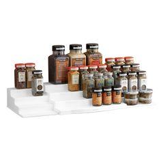 Expandable ShelfSteps Hero Silo New-SML Pantry Rack, Cabinet Spice Rack, Spice Shelf, Spice Bottles, Spice Jars, Kitchen Pantry, Kitchen Dining, Step Shelves, Spice Organization