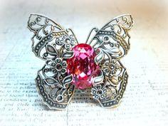 Butterfly Kisses Pink  Swarovski Crystal  by ClassicKeepsakes, $48.00