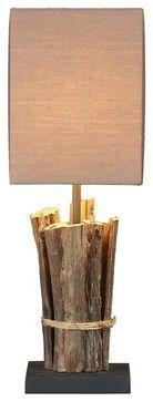 Teak Sticks Lamp - rustic - Table Lamps - Natural design house