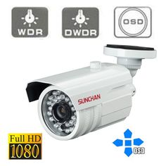 SUNCHAN 1080P HD-SDI Camera Panasonic Waterproof Outdoor 30M IR Bullet 3.6MM…