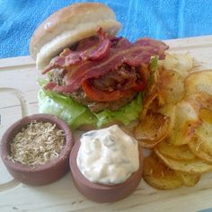 Ever cooked with natural unami-rich ingredients? Try out contestant Buss' #recipe for The ultimate umami burger with roast potato chips and gherkin aioli #picknpay #freshlyblogged