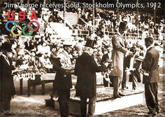 Jim Thorpe receives Gold, Stockholm Olympics, 1912