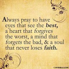 I do pray