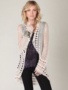 Free People Rounded Up Crochet Cardigan, $148.00