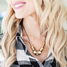 Head to the hardware store to make this necklace.